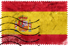 Spain Flag - Old Postage Stamp