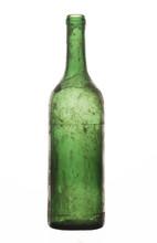 Old Dusty Wine Bottle