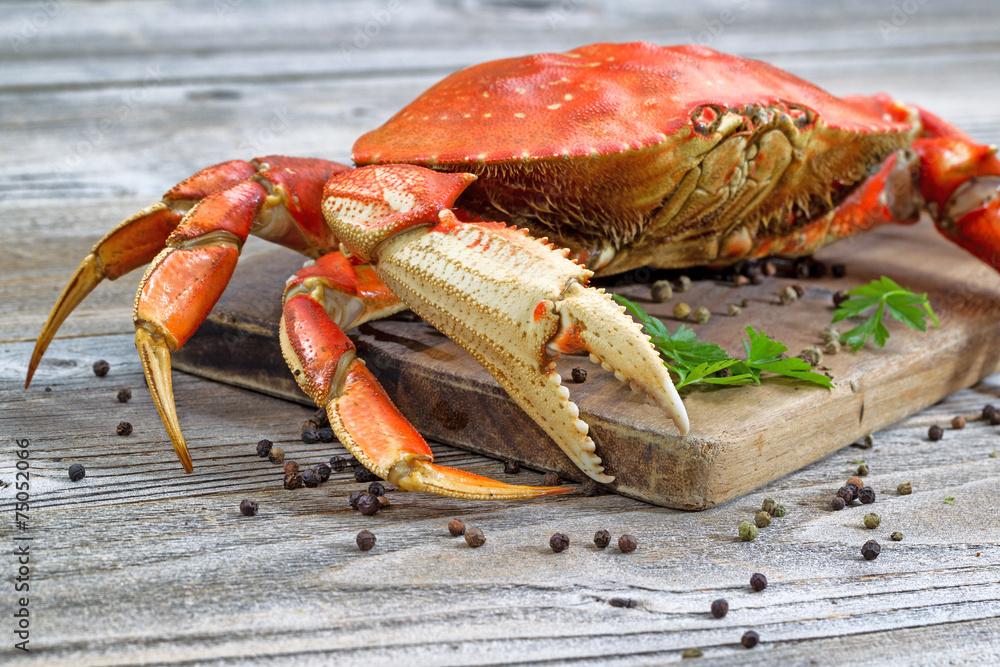 Poster  Steamed Crab on Server Board
