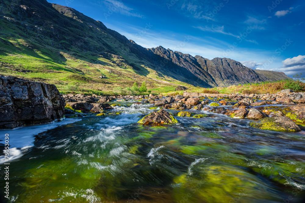 Fototapeta Glencoe Mountain in Scotland