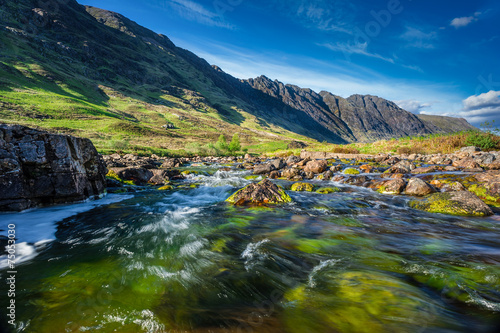 Glencoe Mountain in Scotland Fototapet