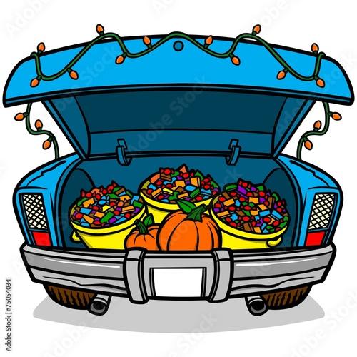 Canvas Prints Cartoon cars Trunk Or Treat