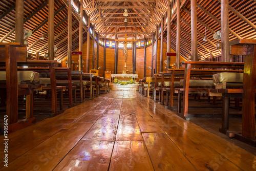 Photo sur Toile Affiche vintage Old wooden Church