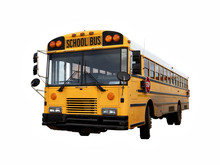 School Bus Isolated With Clipping Path