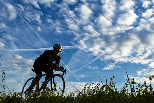 Triathlet auf dem Fahrrad Canvas Print