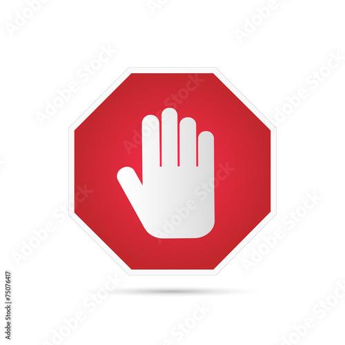 Fotografie, Obraz  Stop Sign Illustration