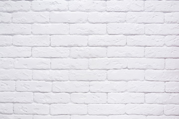 FototapetaWhite brick wall background