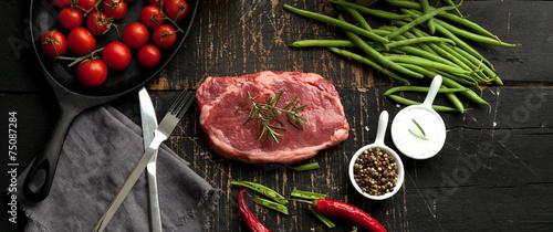Staande foto Vlees steak fleisch american beef