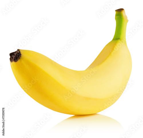 Leinwand Poster tasty banana isolated on the white background