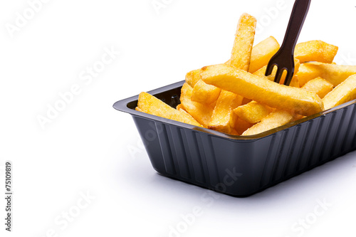 Recess Fitting Grocery Pommes Frites mit Frittengabel
