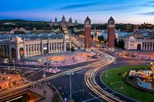 Aerial View On Placa Espanya A...