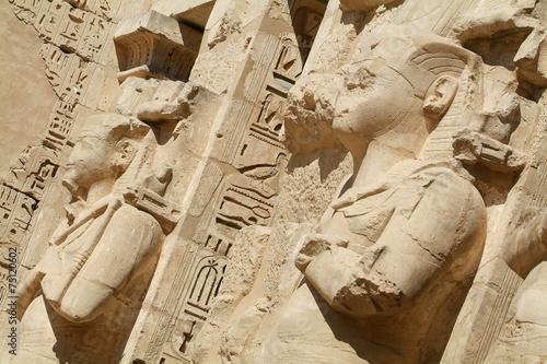 In de dag Egypte Medinet Habu Temple Egypt