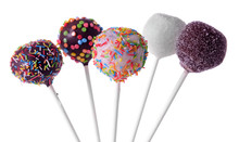Sweet Cake Pops Isolated On Wh...