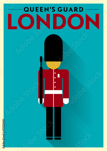 Photo  Queen's Guard Vector Illustration