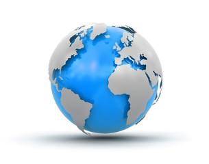 Fototapeta 3d Globe (clipping path included)