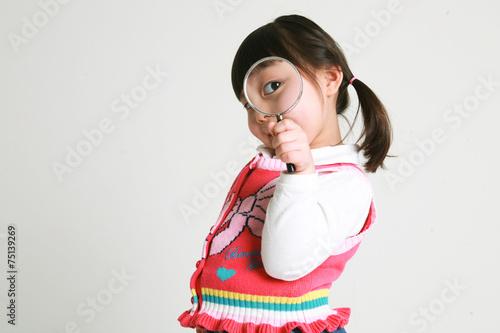 Fotografía  스튜디오 안의 여자 꼬마 어린이