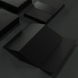 Mock up business template on black background.