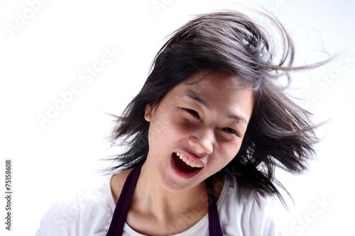 20대 여성 얼굴 클로즈 업
