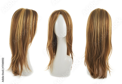 Foto Hair wig over the mannequin head