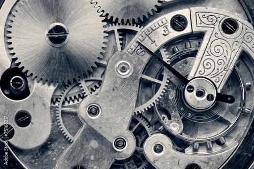 Fotografía vintage clock machinery,retro photo