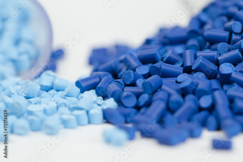 Fotografía  Gránulos de plástico