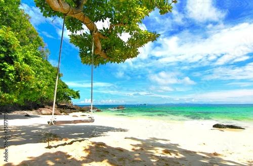Fotomural Paradise beach in Koh maiton island , phuket ,Thailand
