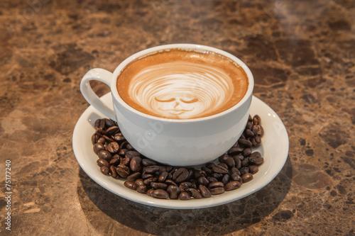 Fototapety, obrazy: lattee hot coffee