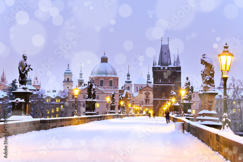 Foto op Canvas Praag Charles bridge, Old Town bridge tower, Prague (UNESCO), Czech r