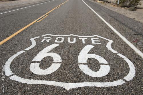 Foto op Canvas Route 66 Route 66 sign