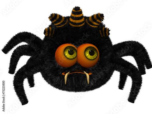 Fotobehang Draw Cute toon spider