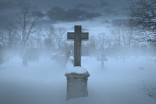 Cross On Graveyard