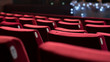 Leinwanddruck Bild - Empty Theater Chairs
