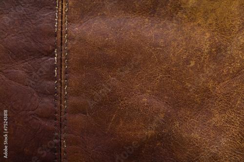 Deurstickers Leder leather
