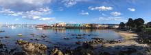 Panoramic View Of Monterey Bay...
