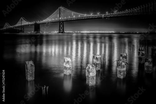 San Francisco Bay Bridge at Night #75247634