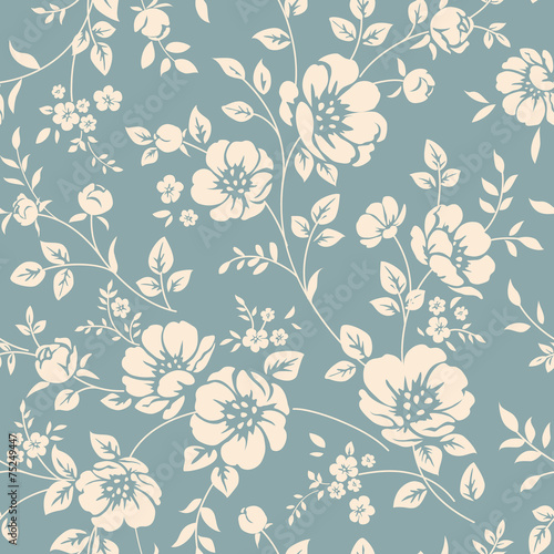 Canvas Print Seamless floral pattern