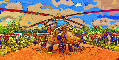 Helicopter art design Poster