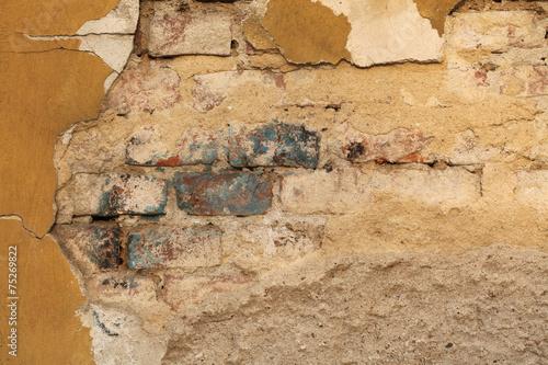 Poster Vieux mur texturé sale Old Wall Texture