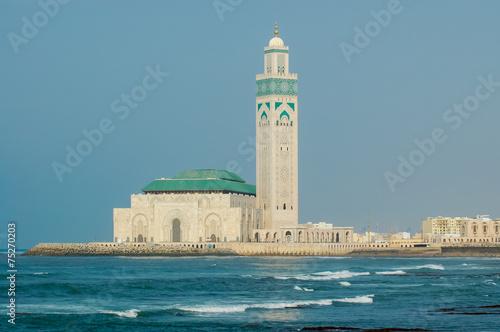 Foto  Mosque Hassan II in Casablanca, Morocco