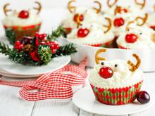 Reindeer Cupcake. Christmas Muffins.