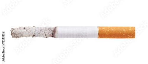 burning cigarette isolated on white background Fototapet