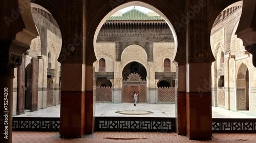Foto auf Acrylglas Marokko Fes Morocco Bounania Mosque