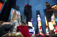 Happy New Year Toast Times Square New York
