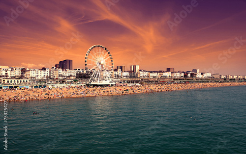 The towering Brighton Wheel ,England UK Wallpaper Mural