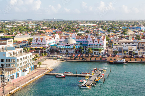 Colorful Oranjestad Aruba Canvas Print