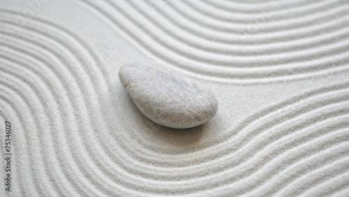 Foto op Canvas Zen Stein