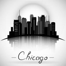 Chicago Illinois City Skyline ...