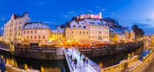 Ljubljana In Christmas Time. Slovenia, Europe.