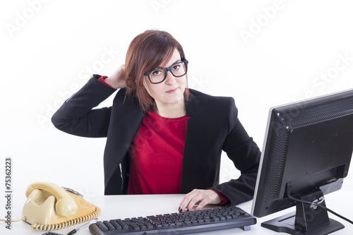 Fotografía  business girl disengagind mane