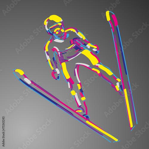 skoki narciarskie wektor